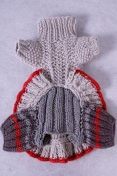 мини - коллекция вязанных платьев и пуловеров для чихуахуа