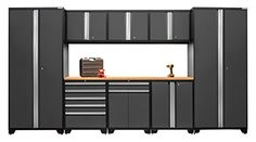 NewAge Products 52066 Pro 30 Series Bamboo Storage Set 9 Piece Gray -- Visit the image link more details.