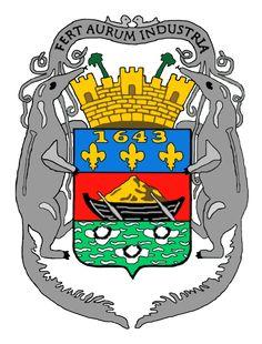 1643, French Guiana, Prefecture: Cayenne, Ext 83,534 Km² #FrenchGuiana #Cayenne (L4527)