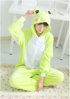 Flannel family animal pajamas one piece onsies onesies cosplay grenouille grenouillere frog pajama pijamas enteros de animales