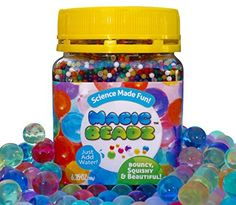 Kids' Beading Supplies - Magic Beadz  Jelly Water Beads Grow Many Times Original Size  Fun for All Ages  Over 20000 Beads * Click image to review more details.