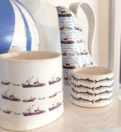 Limited Edition - Cornish Boats Boats, Ceramics, Contemporary, Mugs, Tableware, Handmade, Decor, Ceramica, Pottery