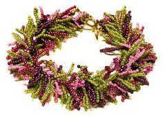 Collection of  Easy Beaded Fringe Bracelet Tutorials ~ The Beading Gem's Journal