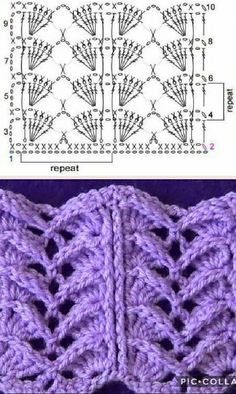 Valentine's Day pattern for a quick scarf or hat. Crochet Stitches - Free Crochet Tutorials-Pictorials on Crochet 'n' Create Crochet Stitch Diagram Crochet Scarf Diagram, Crochet Flower Scarf, Crochet Stitches Chart, Crochet Shawl Free, Crochet Flower Patterns, Crochet Designs, Knitting Patterns, Crochet Flowers, Knitting Stitches