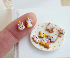 Mini doll frosted cookies - unicorn, cupcake etc.