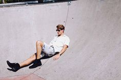 Fashion, fashion photography, skate park, Aimee Stoddart, Jonathan Ford, Viviens Model Management, Indie, Boots, vintage, men, mens style, casual