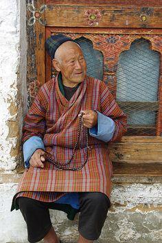 Old Man with Beads | Bhutan