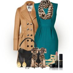 """""""Turquoise + Camel"""" by colierollers on Polyvore"""