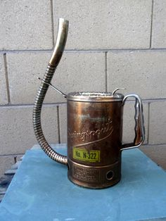 Vintage Copper Clad Swingspout Oil Can Half by TiesofMyFather