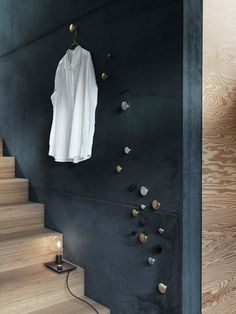 Suede effect up walls with wood