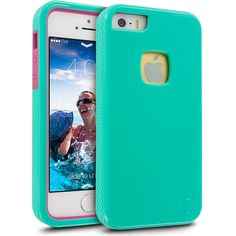 Cellairis Rugged Gloss Rapture® Case for Apple iPhone 5C - Mint/Red