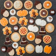 Who's ready for turkey? While I love a great Thanksgiving dinner, I'm most excited for dessert! Our new Thanksgiving menu at Jenny Cookies Bake Shop is the ultimate holiday indulgence. Fall Cookies, Iced Cookies, Cut Out Cookies, Pumpkin Cookies, Royal Icing Cookies, Sugar Cookies, Royal Frosting, Turkey Cookies, Thanksgiving Baking
