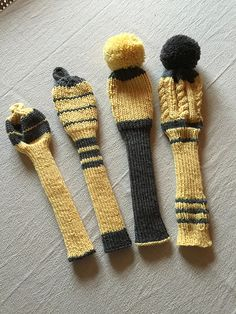 Ravelry: gipsygirl's Joe's Club Covers Knitting Projects, Crochet Projects, Golf Club Head Covers, Cloth Flowers, Golf Clubs, Headbands, Knit Crochet, Knitting Patterns, Knit Wear
