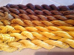 hand-dyed wool/silk for tapestry weaving