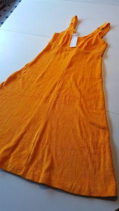 TILLFÄLLE!! SÅÅ LÄCKER vintage klänning!! FROTTÉ!! HELT NY !! 70-tal
