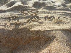 """Come dice la canzone... """"Ho scritto t'amo sulla spiaggia"""" ehehe chi non l'ha fatto (Gonnesa, Sa punta de s'arena)"""