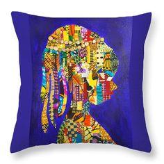 Imani Decorative Pillow  Artwork by Apanaki Temitayo M  Shop at Apanaki Designs