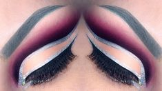 Pink double cut crease makeup tutorial / 3D Silver glitter make-up look