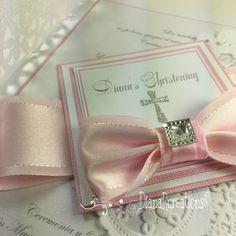 Handmade Christening invitationButterfly Baby shower invitation