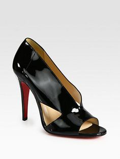 ShopStyle by POPSUGAR: Christian LouboutinCreve Couer Patent Leather Sandals