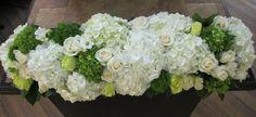 White hydragnea triple casket spray Funeral Sprays, Flowers For Mom, Casket Sprays, Floral Arrangements, Flower Arrangement, Sympathy Flowers, Centerpieces, Table Decorations, Funeral Flowers