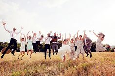 These group wedding photo ideas will help take your wedding photo album up a notch.or We love how unique and fun these are. Wedding Photo Group Shots, Beach Wedding Photos, Wedding Photo Albums, Wedding Pictures, Wedding Party Shirts, Party Wedding, Wedding Shot, Wedding Ceremony, Photo Grouping
