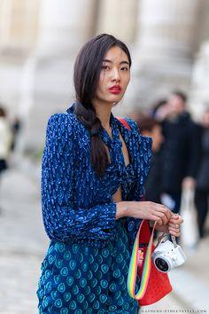 Model Off Duty Bonnie Chen - Paris-Fashion-Week-Fall-Winter-2014-2015-Street-Style