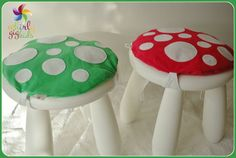 Toadstool Cushion Hot Pink Children/Kids Cushion for Ikea