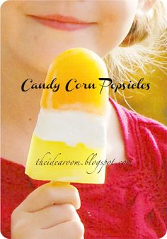 #Halloween Candy Corn Popsicles via Amy Huntley (The Idea Room)