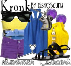 Disney Bound: Kronk from Disney's Emperor's New Groove (Summer Concert Outfit) Disney Themed Outfits, Disney Bound Outfits, Packing Outfits, Disneyland Outfits, Cute Disney, Disney Style, Disney Inspired Fashion, Disney Fashion, Women's Fashion