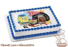Deco33514 | SPONGEBOB SQUAREPANTS GRADPANTS PC FRAME | Nickelodeon, spong bob, graduate, graduation, custom, image, photo.