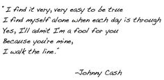 johnny cash @theneotraditionalist.  Best Song ever, simple, straightforward commitment. Love