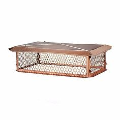 Home 29x17-Inch 24-Gauge Base Flanges Durable Copper Spark Arrestor Chimney Cap