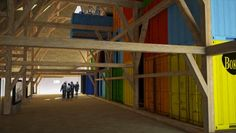 Architectura - LENS°ASS huisvest multimediale tentoonstelling in De Schuur uit Oorderen in Bokrijk