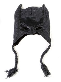 Show the world you're ready to defend Gotham City from the forces of evil with this Batman mask peruvian style cap. 100% acrylic. One size fits most.