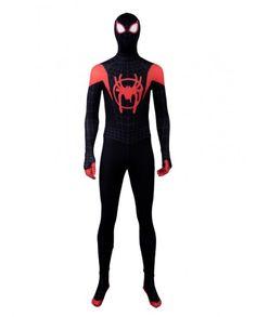 Superhero Cosplay Costume Adult Miles Jacket Cotton Halloween Carnival Spider Printing Hoodie Pullover
