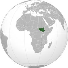 South Sudan (orthographic projection)