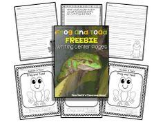#FreebieFriday ~ FREE Frog and Toad Writing Center Printables  #FREEBIE #TPT #TeachersFollowTeachers