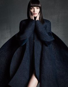 Mariacarla Boscono in Thom Browne for Vogue Japan September 2014, photographed by Iango Henzi & Luigi Murenu.