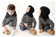 BLUE HOOD | Sartoria Vico for baby #sartoriavico #baby #wool #designtowear #tobeus #enjoy #winter