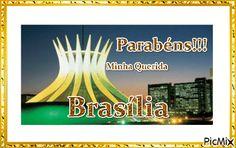 Mensagem de Aniversário - Parabéns Brasília Atari Logo, Logos, Happy Birthday Sms, Anniversary Message, Messages, Buen Dia, Logo