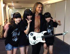 BABYMETAL with Kirk Hammett -METALLICA at Summer Sonic 2013\m/