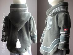 Child Coat. Baby Clothes. 12mo, 3T. 4T, 5t. Boy  Girl Coat. Baby Hoodie. Inuit inspired. Amauti inspired. CANADA.