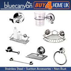 Blue canyon stainless steel gecko #suction #bathroom #accessories - no rusting!,  View more on the LINK: http://www.zeppy.io/product/gb/2/271678258766/