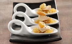 Bouchées de foie gras à la confiture d'oignons et raisins secs