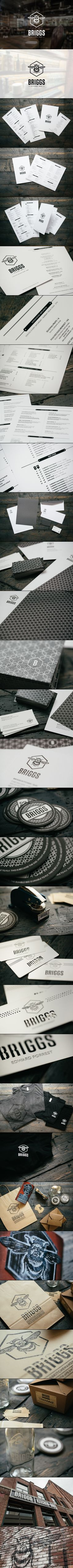 Let's meet at Briggs Kitchen bar for lunch #identity #packaging #branding PD
