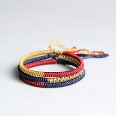 Vibrant Colored Tibetan Buddhist Lama Braided Knots Lucky Rope Bracelet