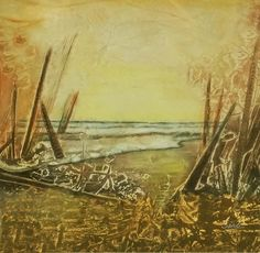 Dori Sanz -  Marina II   #sealandscape #painting #buenosaires