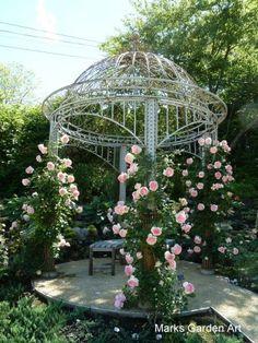 Provence Garden, Romantic Homes, Spring Colors, My Dream Home, Gazebo, Garden Design, Arch, Planters, Backyard