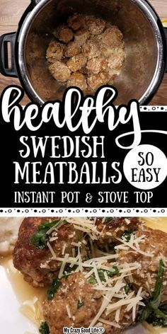 This Instant Pot Swedish Meatballs recipe is easy and delicious! Healthy Swedish Meatballs are the perfect weeknight dinner recipe! 21 Day Fix Swedish Meatballs are low carb and full of flavor. Fixate Recipes, Healthy Recipes, Healthy Meals, Healthy Food, Swedish Meatball Recipes, Clean Eating, Healthy Eating, Recipe 21, Pressure Cooker Recipes
